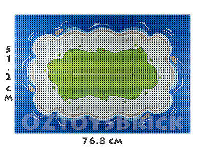BASE PLATE CITY BEACH ISLAND PLATE X 6 - 96x64 STUDS BASEPLATE LEGO COMPATIBLE
