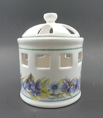 Marjolein Bastin Nature's Sketchbook Violets Lidded Incense or Potpourri Jar