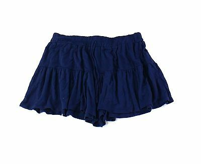 Lily White NEW Navy Blue Size Medium M Junior Drawstring Tiered Shorts $29 316