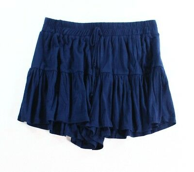 Lily White NEW Navy Blue Size Small S Junior Drawstring Tiered Shorts $29 319