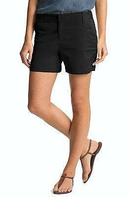 Caslon NEW Black Womens Size 6 Stretch Twill Four-Pocket Chino Shorts $42 776