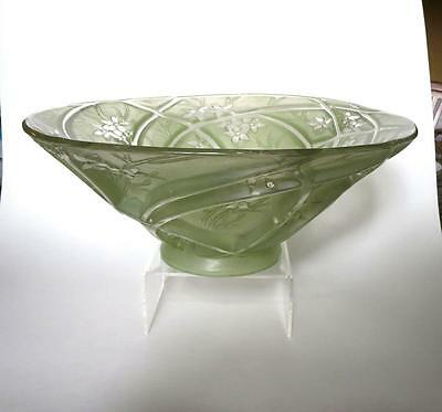 Consolidated Glass Martele Green Large Salad Bowl 1930's Art Deco
