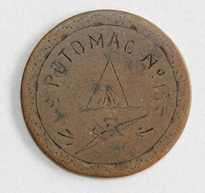 """Engraved Love Token """"Potomac No 15"""" on 1894 Indian Head Cent **"""