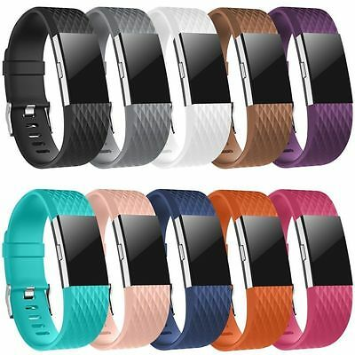 New Replacement Silicone Watch Band Strap Wristband Bracelet For Fitbit Charge 2