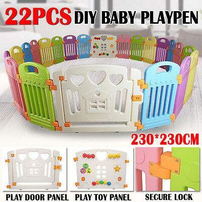 Interactive Kid Baby Room Safety Game Playpen Space Fence 2.3mX2.3m Big sizes