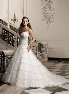 Gorgeous layered tuille wedding gown with beading (was $2549) Sophia Tolli Y1918