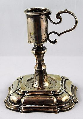1732 Copenhagen Antique Sterling Silver Chamber Candle