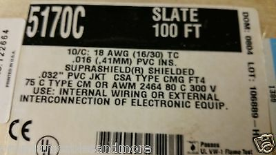 Alpha Wire 5170C 18/10C XtraGuard 1 Suprashield Sun/Oil Resist Cable 105C /25ft