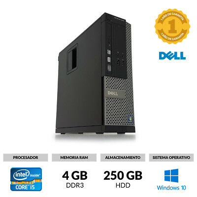 ORDENADOR SOBREMESA DELL 3010 SMALL CORE i5-3470 3,20 4 GB RAM 250 GB WINDOWS 10