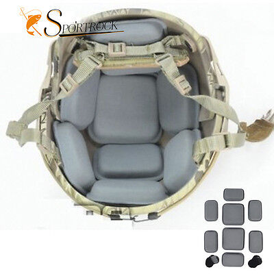 Outdoor Airsoft Military Tactical Protective Pad for Helmet Grey