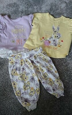 baby girls tops and crop trousers set tops 0-3 months trousers newborn