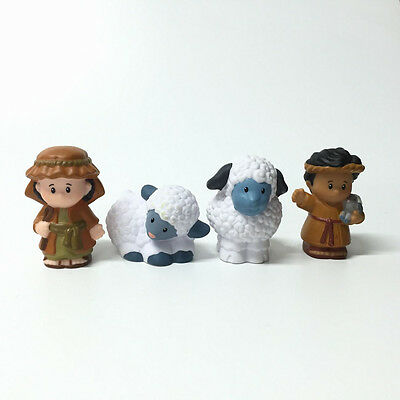 """Lot 4 Fisher-Price Little People Lil""""s Shepherds With 2 Sheeps Great Kids Toy"""