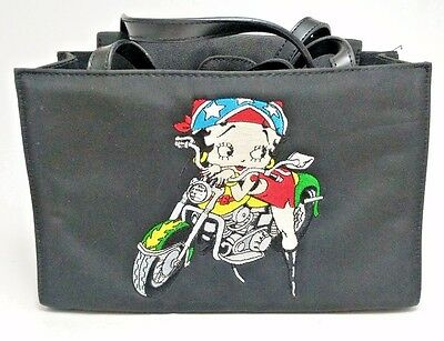 "Betty Boop On A Motorcycle w/ Bandana Tattoo and Boots 9.5"" Purse"