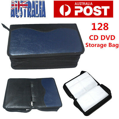 128 DVD CD DISC Holder Album Storage Case Folder Wallet Carry Bag Organizer AU
