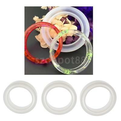 Clear Silicone Mould Round Resin Bangle Bracelet Jewelry Making DIY Tools Molds