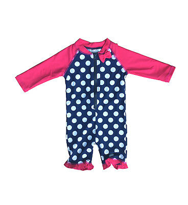 Baby Girl Toddler Zip-up All-In-One UV Sun Protection Swim Suit UPF 50+ Rating