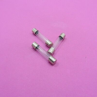 6 x 30 Glass Fuses Quick Blow Fast Acting 250V