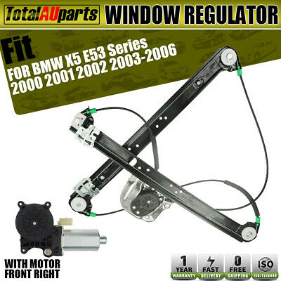 Electric Window Regulator w/ Motor for BMW X5 E53 00-06 Front Right Driver Side