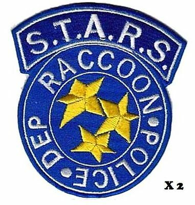 Resident Evil STARS Raccoon Police lot 2 ecussons avec scratch Raccoon patches
