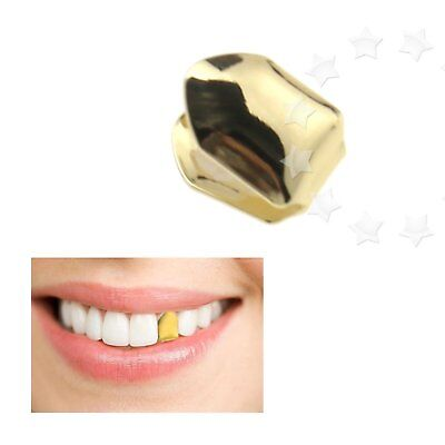 Gold Single Tooth Clip Mouth Teeth Cap Grill Bling Evening Party Hip Hop Gangsta