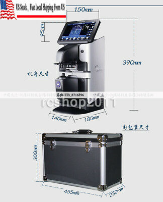 JD-2600A 7'' Touch Screen Optical Digital Auto Lensometer PD UV & Printer in US