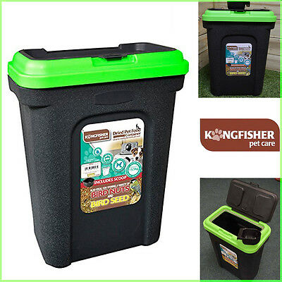 Large Pet Food Container Quality Tub Bird/Dog Dry Food New Storer 30L Kingfisher
