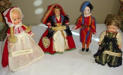 Four Vintage International dolls, Germany, Italy, France and Great Britain