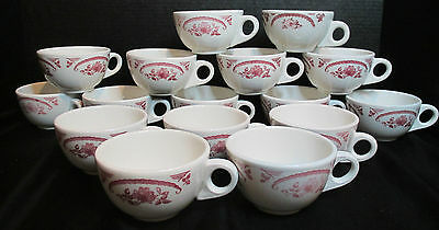 Homer Laughlin American Rose Best China Restaurant Ware American Set of 16 Cups