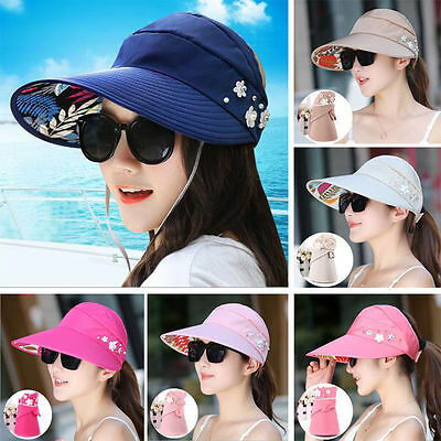 Fashion Women Wide Large Brim Folding Summer Sun Hat Outdoor UV Protection Cap