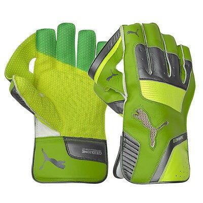 2017 Puma evoPOWER LE Green Yellow Wicket Keeping Gloves