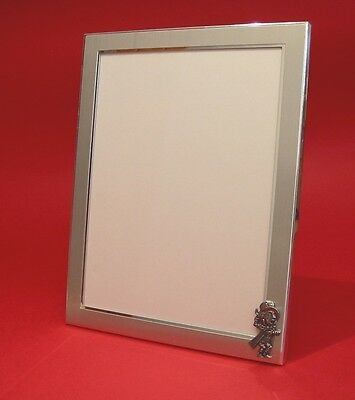 Mad Hatter Photograph Frame 4 x 6 Landscape Picture Frame With Hand Cast Pewter Motif Alice in Wonderland Gift