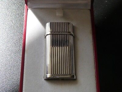Cartier Decor Godrons Palladium Plated Lighter - Boxed
