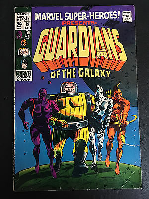 Marvel  SUPER HEROES COMIC 18 GUARDIANS OF GALAXY 1st APPEARANCE VG 4.5
