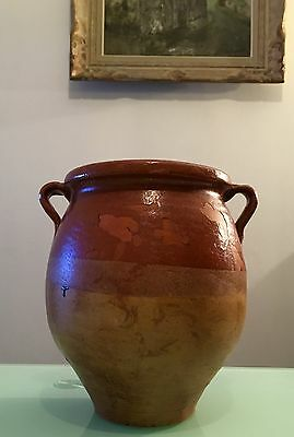 ANTIQUE FRENCH GLAZED POTERY CONFIT POT 19th CENTURY