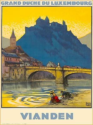 Grand Duche Du Luxembourg Vianden Vintage Travel Advertisement Art Poster Print