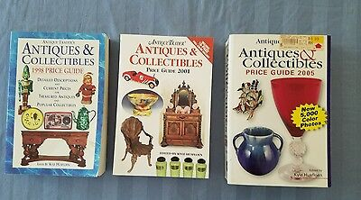 LOT OF 3 Antiques & Collectibles Price Guides 1998 2001 2005 BOOKS