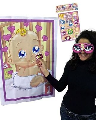 PIN THE DUMMY ON THE BABY SHOWER PARTY GAME Up to 12 Players Boy Girl