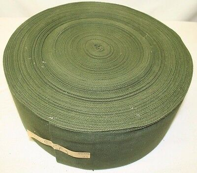 "Genuine British Army 6"" Olive Green Webbing Material Roll Approx 100 Metres"