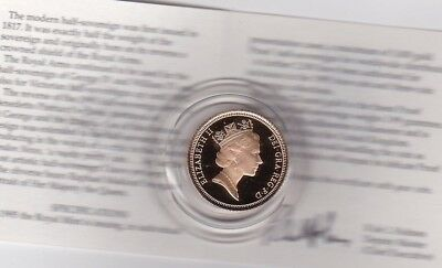 2012 Boxed Proof Gold Half Sovereign With Certificate