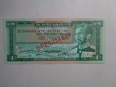 1966 Ethiopia National Bank***1 Dollar***(Specimen)***unc***