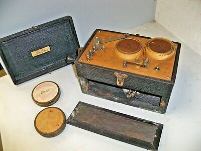 Antique Instructograph Code Learning Machine W 2 Reels