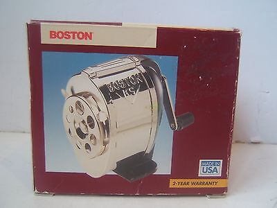 Boston Deluxe Wall Mount 8 Hole Pencil Sharpener Model 1031 All Steel Made USA