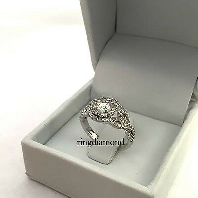 2.46 Ct Forever Off White Moissanite Engagement Ring 925 Sterling Silver Size 7