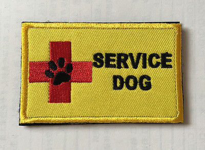 SERVICE DOG ARMY MILITARY MORALE TACTICAL EMBROIDERED HOOK PATCH sh+1003
