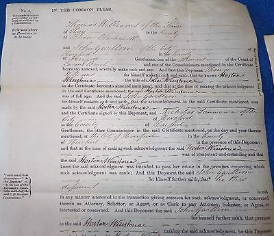 2 Victorian Documents Related to People in Hereford