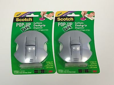 2 Scotch Pop-Up Tape Refillable Deskgrip Dispensers and Tape Pad (98-GS)
