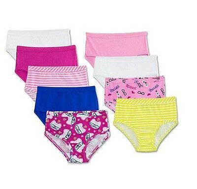 Fruit of the Loom Girl's *9 Pack* Signature Cotton Briefs Assorted Color Size 14