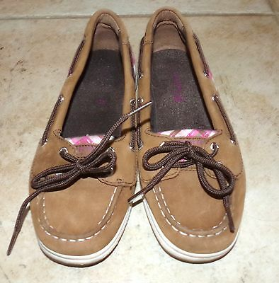 EUC Youth Girl's SPERRY Slip On Shose Boat Deck Shoes - Size 5