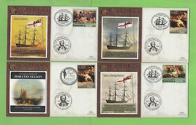 Dominica 2008 Collection of eight Horatio Nelson Bicentenary covers