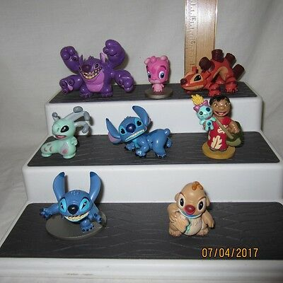 Lot Of 8 Lilo & Stitch PVC Figures Disney Store Exclusive Cousins